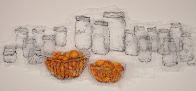 Canning Day, textile art embroidery by Susanne Gregg
