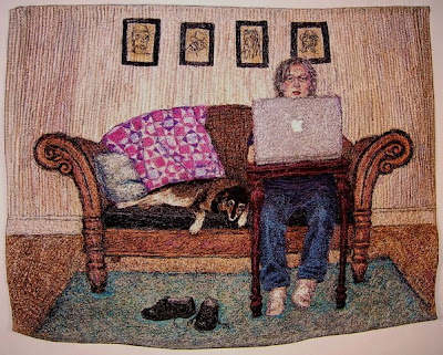 Syd & Me, textile art embroidery by Susanne Gregg