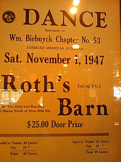 Poster for a DAV Dance in 1947