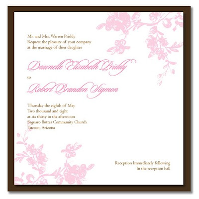 2 Paisley Pink Wedding Invitations so preppy via Mod Papers