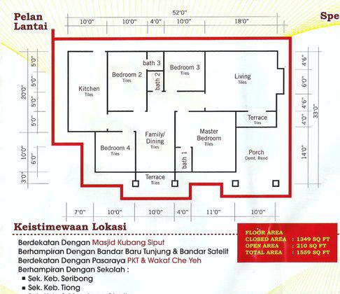 Sumber Hartanah Banglo Murah Seribong Berdekatan Wakaf Che Yeh