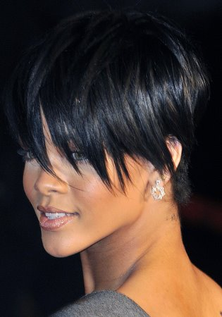 Rihanna short haircuts for black hair