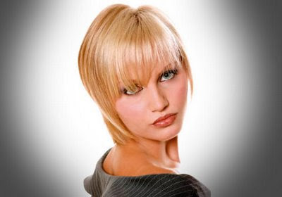 Modern layered blonde short hair cuts style 2010