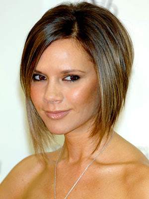 Victoria Beckham with inverted bob hairstyle