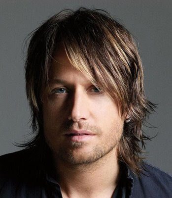 Male Celebrity Keith Urban long layered hairstyle