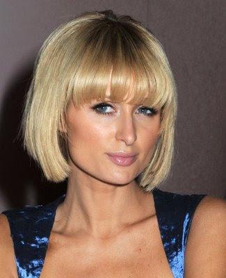Short Hair Styles For Women With Bangs - Paris Hilton Short Hair