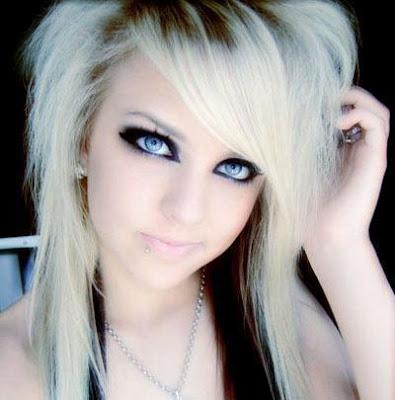 blonde emo hairstyles