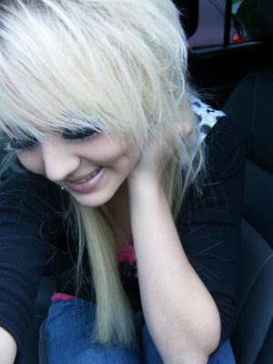 emo hairstyles for long hair. long blonde emo hairstyles.