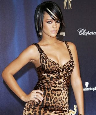 Rihanna's Colored Bob Hairstyle for black women african hairstyles