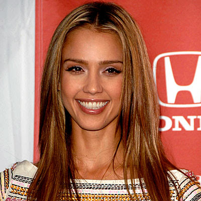 jessica alba hair. Jessica Alba Cute Straight