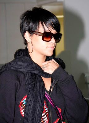 african american hairstyle black women rihanna short afro