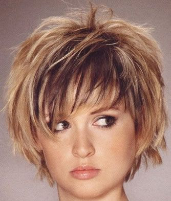 short haircuts for round faces women. short haircuts for round faces