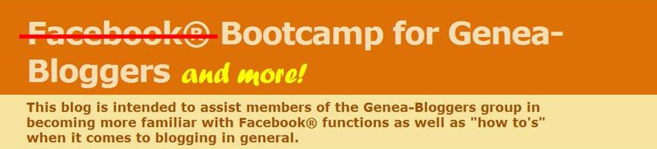 Bootcamp for Genea-Bloggers