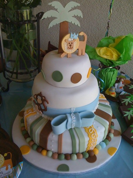 maryellen 39 s cupies n cakes king of the jungle baby shower cake
