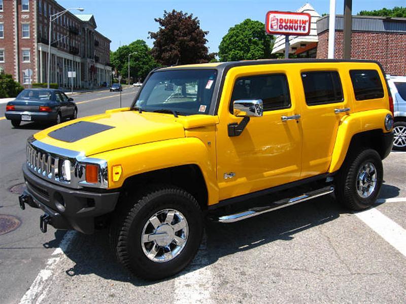 Yellow Hummer H3