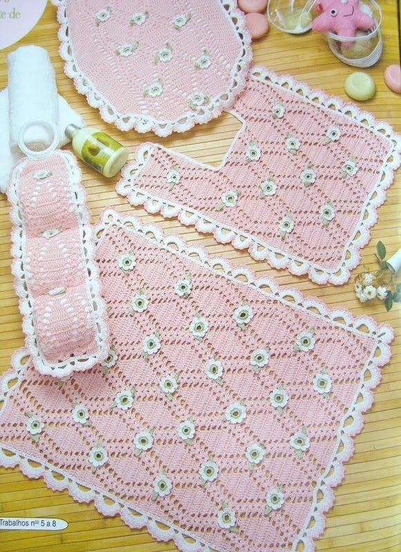 Juegos De Baño A Gancho:Juego De Bano Tejido a Crochet