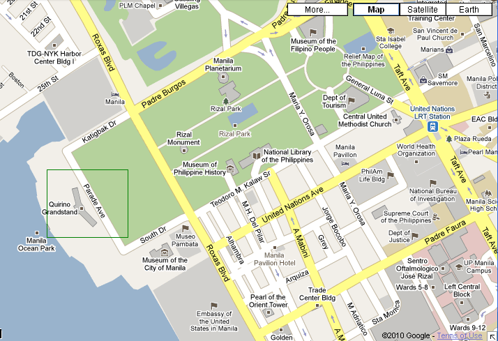 How To Get To Quirino Grandstand Directions Routes Maps - Us embassy manila map