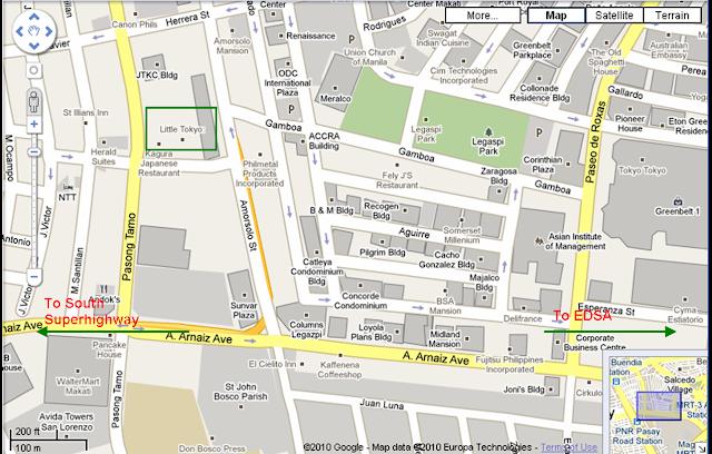 Little Tokyo Makati Map