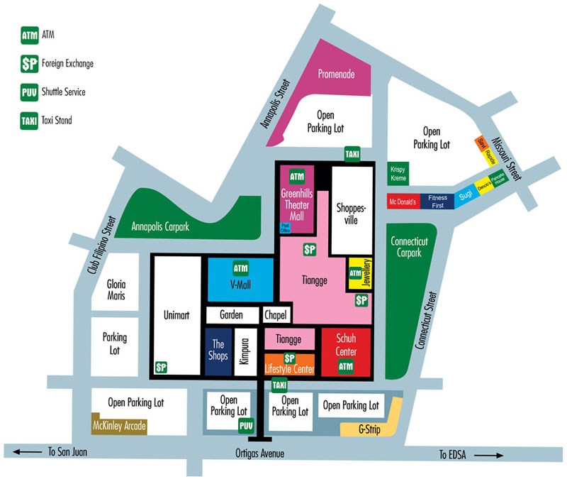 How To Get To Greenhills Shopping Center? | Directions, Routes, Maps Northeast Mall Map on