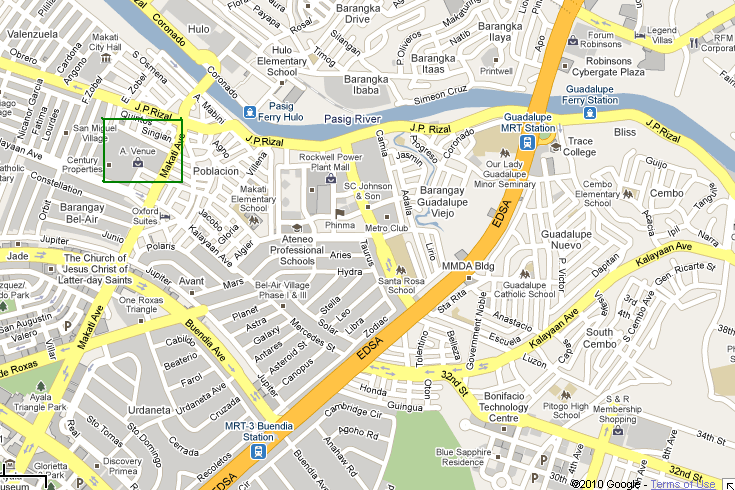 Here's a map around A. Venue Mall and Hotel via Google Maps :