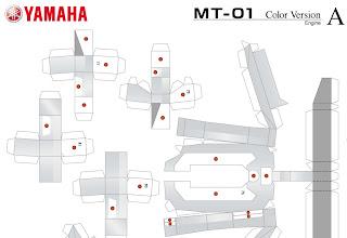 yamaha origami26 Papercraft   Assemble Yamaha Motor Sport With Paper