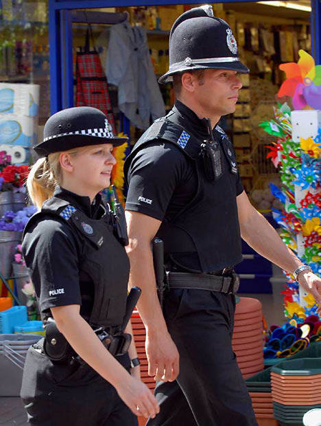 Officers' spokesman on these new British police black uniforms and said
