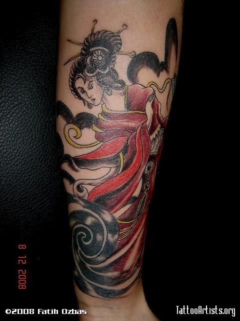 Geisha Arm Japanese Tattoo Design. Geisha Arm Japanese Tattoo Design