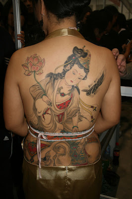 Japanese Religious Tattoo on Back Body