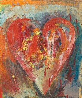 Jim Dine Hearts Paintings