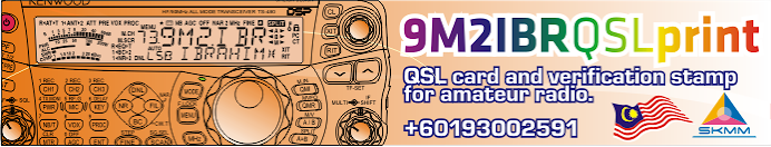 9M2IBRqslPRINT - Malaysia QSL card design and printing