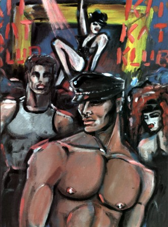 This drawing by Martine illustrated an article about gay Berlin.