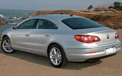 Rear 3/4 view of 2011 Volkswagen CC Sport