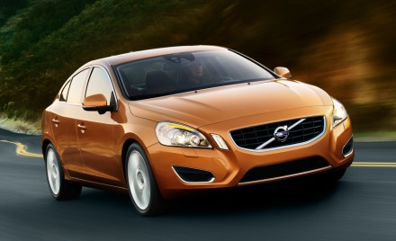Front 3/4 view of bronze 2011 Volvo S60