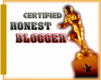 Certified Honest Blogger Award - awarded on Sept.16, 2008 by BlackWomenBlowTheTrumpet