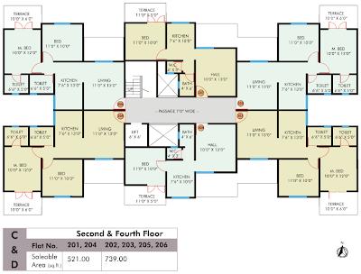 Ravi karandeekar 39 s pune real estate market news blog for 1 bhk flat floor plan