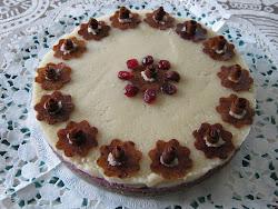 Vörösáfonya torta
