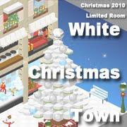 white Christmas town