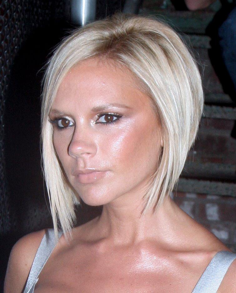 Haircuts And Hairstyles Victoria Beckham Short Blonde Bob Haircuts