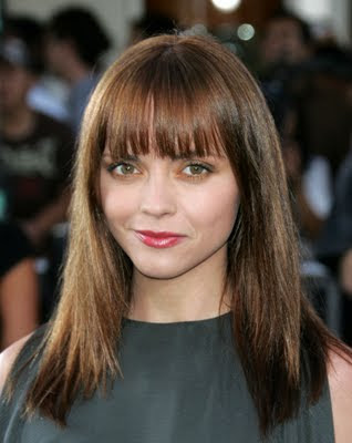 Hairstyle Round Chubby Face 2010 Fringe Bangs Hairstyles for Round Faces