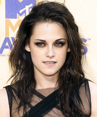 Kristen Stewart Long Hairstyles for Heart Shaped Face
