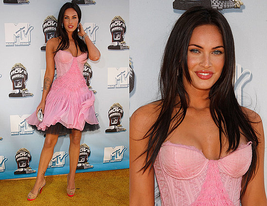Megan Fox Long Straight Brunette Hairstyles