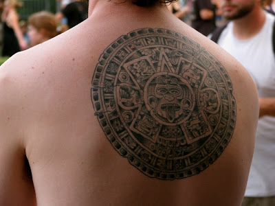 Aztec Tattoos generally imitate either their remarkable written language,
