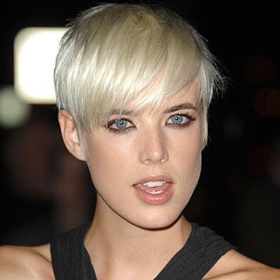 Agyness Deyn Short Hairstyles - Platinum Blonde Hair Color Trends