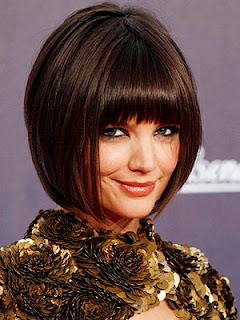 Katie Holmes Short Inverted Bob Hairstyles