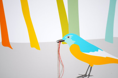 colorful 3d  bird art