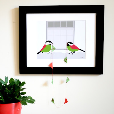 bunting and bird art