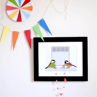3d bird art