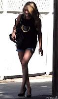Hilary Duff in Denim Shorts
