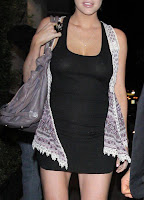 Sophie Monk wearing a see-through tight black dress