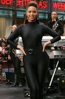 Beyonce Knowles' Unitard Gets A Workout